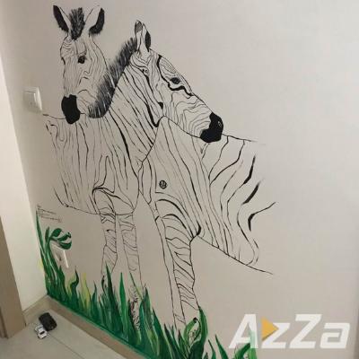 Desene pe pereți Pentru Copii - Zebre, Pereti Pictati Bucuresti