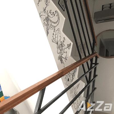 Pictura pe pereti , Pictura pe scara interioara Bucuresti