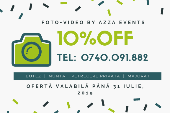 10% Discount Duminica - Foto Video by AzZa Events