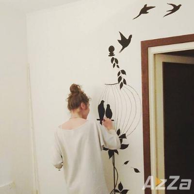 Pictura pe pereti - Pasari in colivie