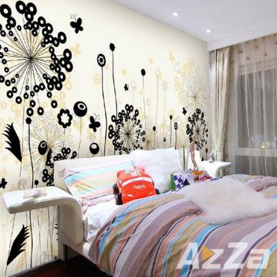 Desene pe pereti cu flori abstract, Pictura pe Pereti Dormitor
