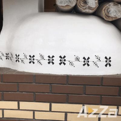 Gratar din caramida pictat manual cu simbol traditional